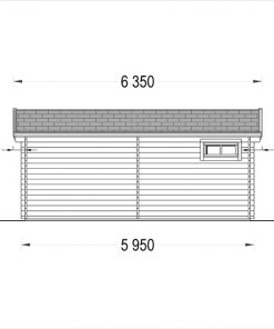 Wooden house OLIVIA (6m x 6m) - side view