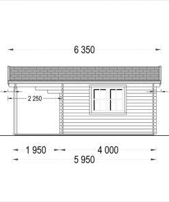 Rąstinis namas CAMILA 24m²- side