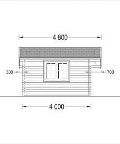 Wooden house CLARA - side view