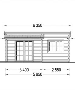 Wooden cabin HELEN (6m x 4m) - front view