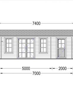 Wooden house LEA (7m x 4m)