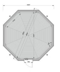 Camping cabin 14.9 m² - PLAN