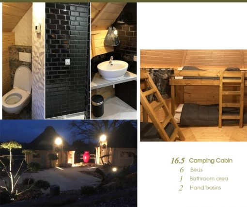 Camping cabin 16.5 m²