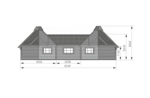 Kempingas cabin 9.2 m² + 9.2 m² - PLAN