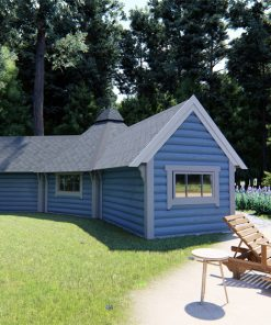 Camping cabin 9.2 m² with two extensions