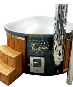 Modern hot tub with decoration