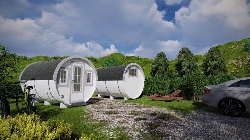 Camping barrel 3.3 m