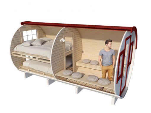 """Sleeping cottage """"barrel"""" 4.4 m (Maxi size)"""