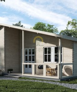 Wooden house Laetitia 910 cm x  810 cm  (73,7 m2)