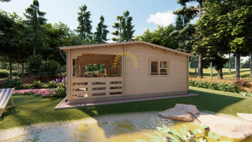 Wooden house ALMA 7m x 8m, 44 mm