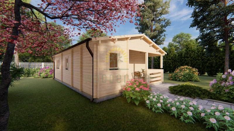 Wooden house Almeria 6 x 8,87 68 mm