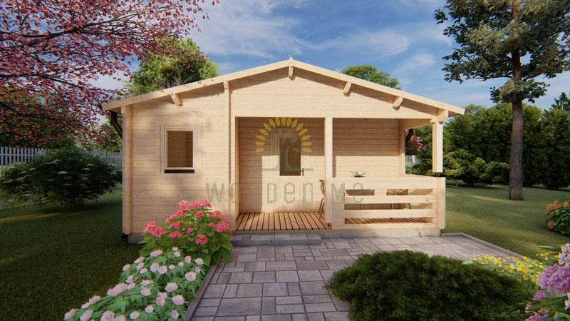 Wooden house Almeria 6 x 8,87 68 mm