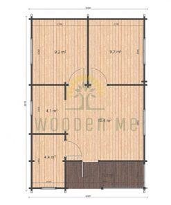 Almeria 6x8.87 floor plan