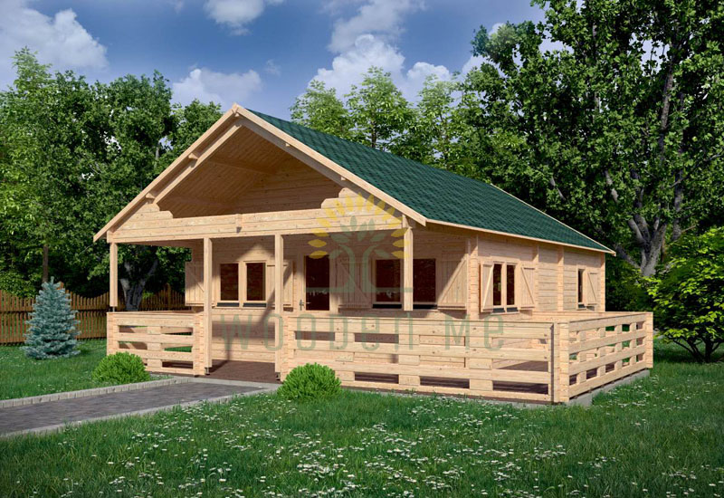 Wooden house GUSTAV B 6 m x 8 m 44 mm