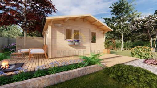 Wooden house ECO 5 m x 5.7 m 44 mm