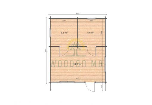 Eco 5x5.7 floor plan