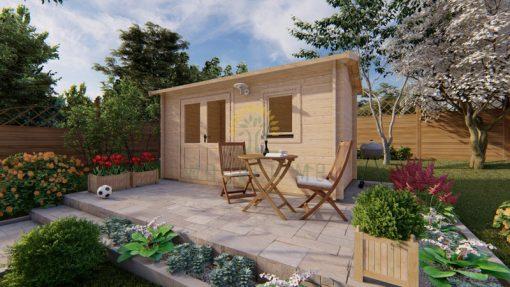 Garden shed Erna 2,5 x 4,5m, 44 mm