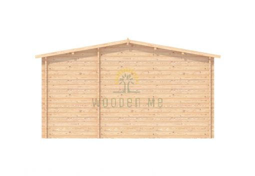 Wooden garage 5m x 5m, 44mm _ Back