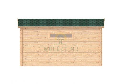 Wooden garage 5m x 5m, 44mm _ right side