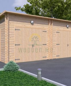 Double wooden garage 7m x 5.5m, 44 mm