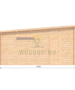 Double wooden garage 7m x 5.5m, 44 mm _left