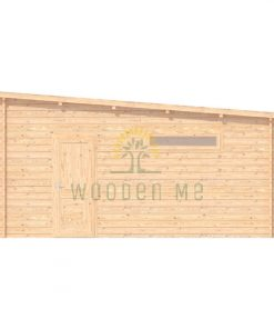 Double wooden garage 7m x 5.5m, 44 mm _right
