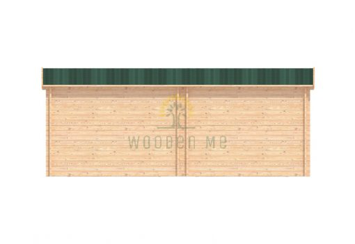 Double wooden garage 7m x 5.5m, 44 mm_back