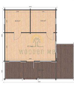 Gustav A 6x6 68mm floor plan