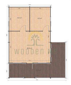 Gustav B 6x8 44mm floor plan
