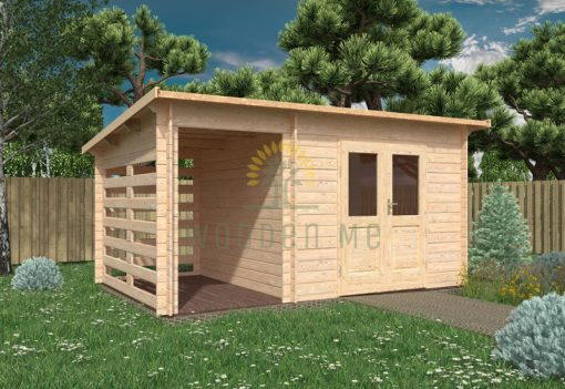 Garden shed LIMA 4,5x3m, 28 mm