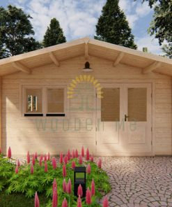 Wooden cabin LINUS 4m x 5m 44 mm