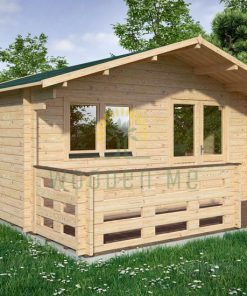 Wooden house LINUS 5m x 5m, 44 mm with-terrace