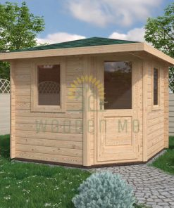 Garden shed LONDON 2.6×2.6m 28mm