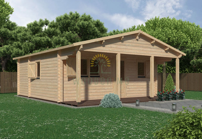 Wooden house Louise 6 x 6 68 mm
