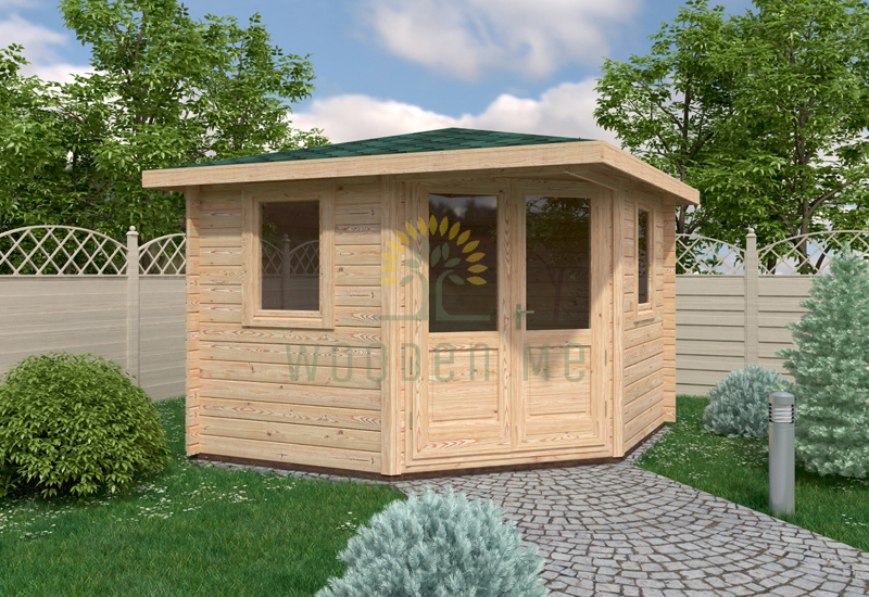 Garden shed LUKNE 3x3m 28mm