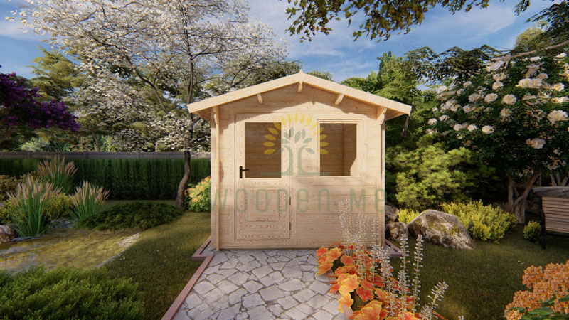 Garden shed MANTOVA 2.5x2m 28 mm