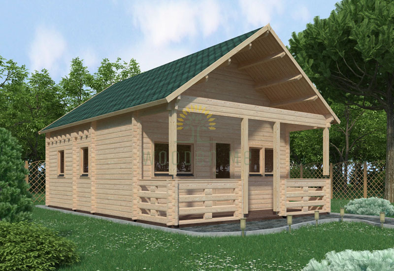 Wooden house Max 5,6 x 6,6 68mm