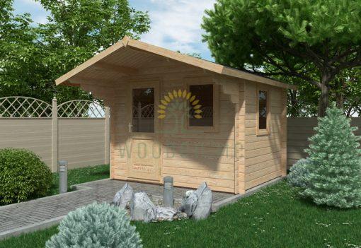 Garden shed MODENA 3×2.5m, 28 mm