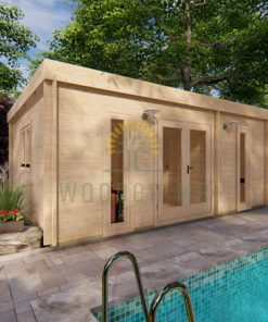 Wooden cabin OTAWA 6m x 4.5m, 44 mm