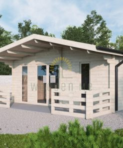 Wooden house PADOVA B 6m x 6.5m, 44 mm
