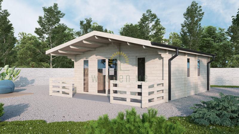 Wooden house PADOVA B 6m x 6.5m, 44 mm
