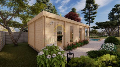 Wooden cabin RICO 4.04m x 7.8m, 44 mm