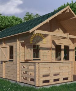 Wooden house TORINO 4.5m x 6m, 44 mm