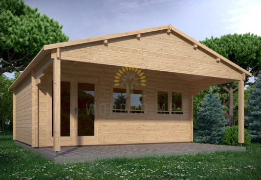 Wooden house TRENTO 6m x 5m, 44 mm