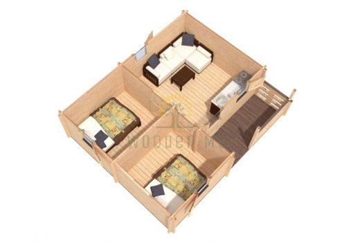 Wooden house Veronica 5 x 6 68 mm