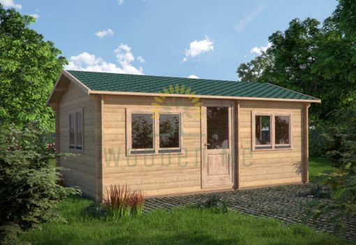 Wooden cabin MURRAY 4m x 6m, 44 mm
