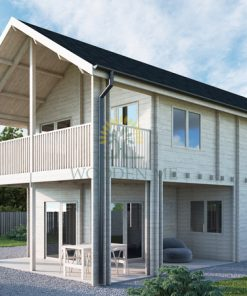 Wooden house Athena 5,86m x 11,26m 68 mm