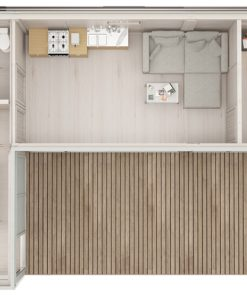GLAMPING CUBE 42 m² | L SHAPE