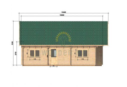 Wooden house Felix 6 x 10 68 mm_left