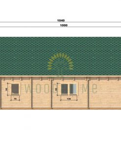 Wooden house Felix 6 x 10 68 mm_right